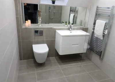 Tiling wet room